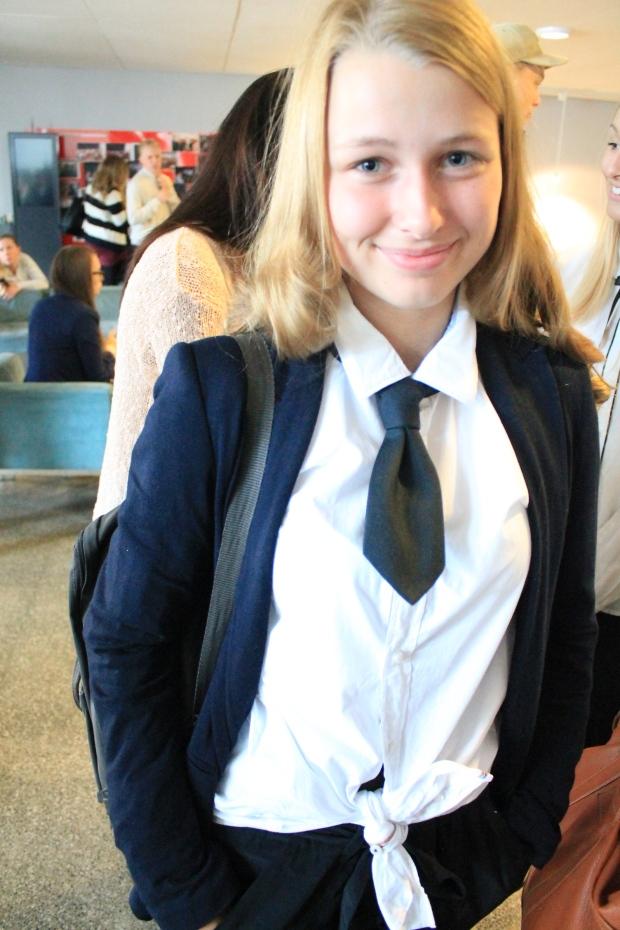 Jessica som en Hogwarts elev.